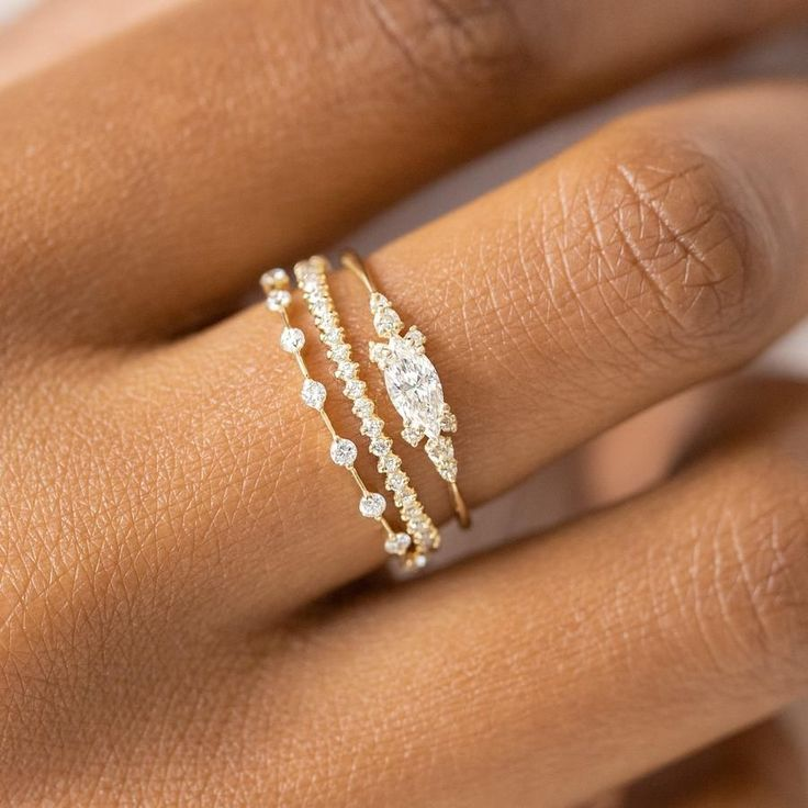 Diamond Eyelet Ring