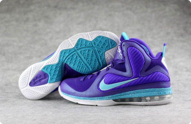 Nike Lebron 9 Basketball Shoes Summit Lake Hornets Purple Grape---001