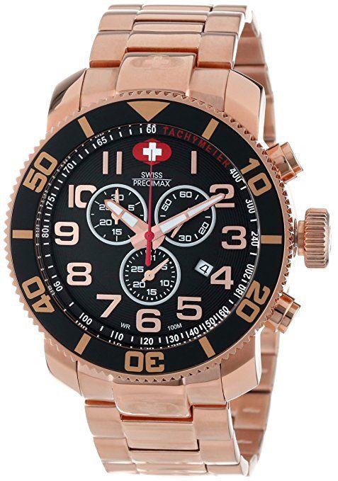 20296fb03 Swiss Precimax SP13040 - Reloj para hombres, correa de acero inoxidable  color oro rosa