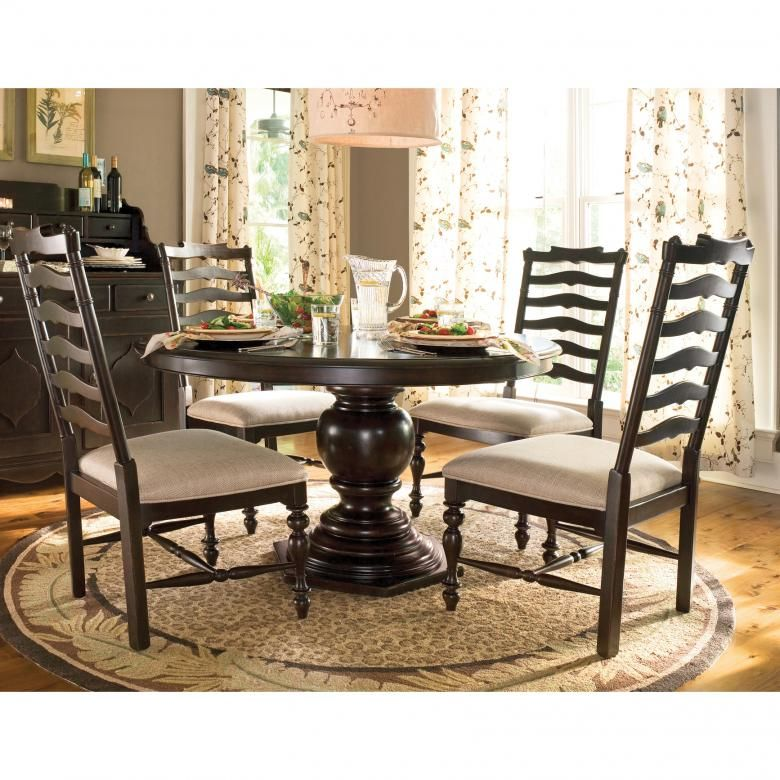 Paula Deen Home 5Piece Round Dining Set In Tobacco Finish Best Paula Deen Dining Room Set Inspiration