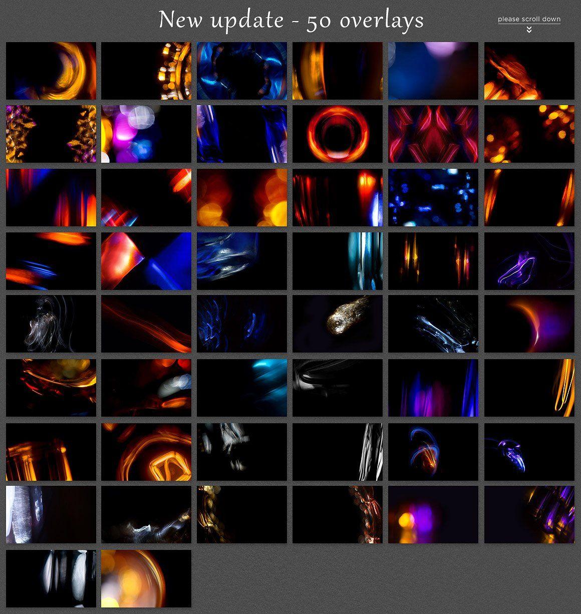 Mystical Lights 250 Photo Overlays Photo Overlays Overlays