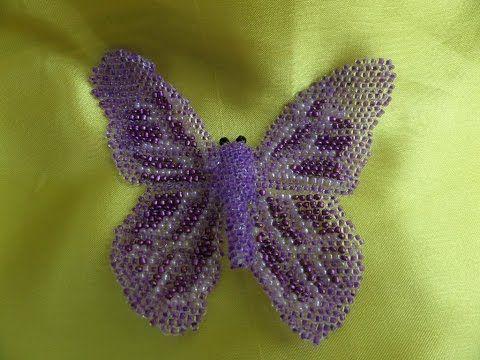 Плетение бисером. Бабочка из бисера. Бисероплетение - YouTube