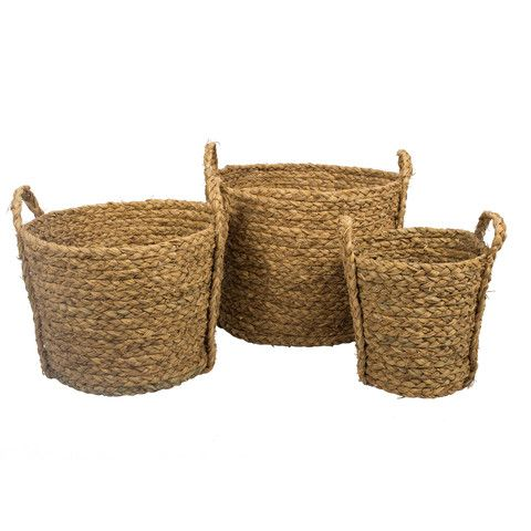 These versatile and sturdy baskets have many storage options, from Laundry basket, shoes or even as a planter.