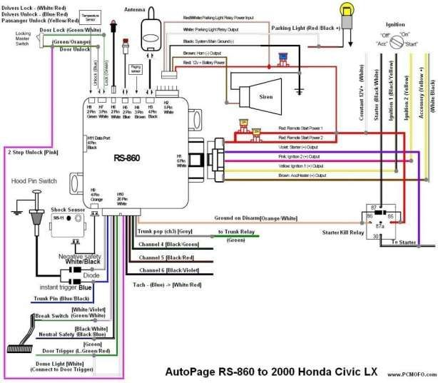 2004 honda accord car alarm wiring diagram  center wiring