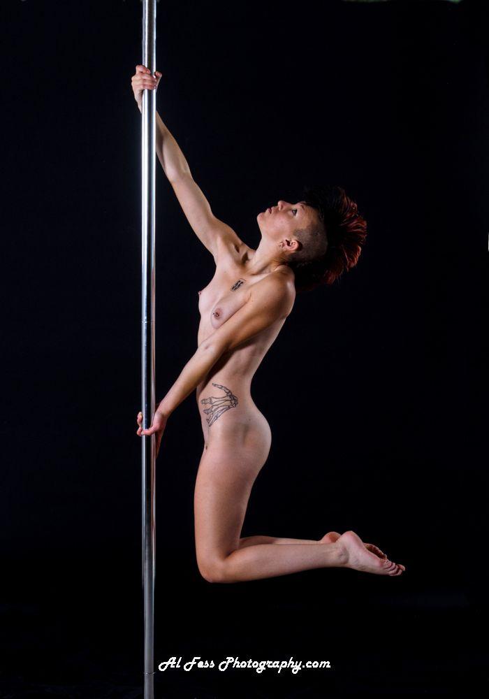 Nude pole dancing