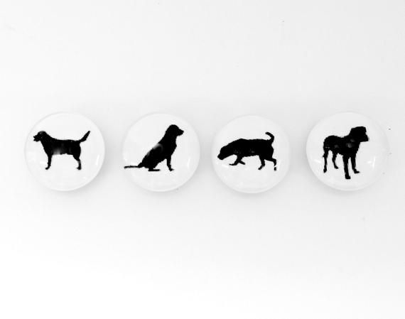 Good Dog Magnet Set Set Of 4 Black Dog Glass Fridge Magnets Push Pins Gift For Dog Owner Dog Wal Gifts For Dog Owners Dog Dad Gifts Dog Gifts