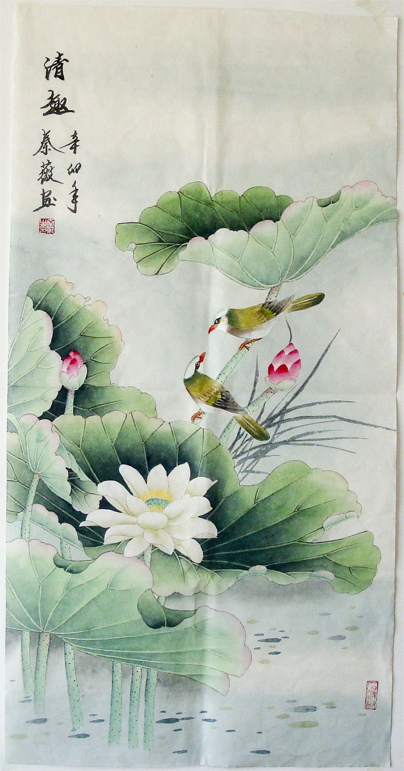Xuan paper traditional chinese realistic painting classic best lotus xuan paper traditional chinese realistic painting classic best lotus flower painting us 4800 izmirmasajfo