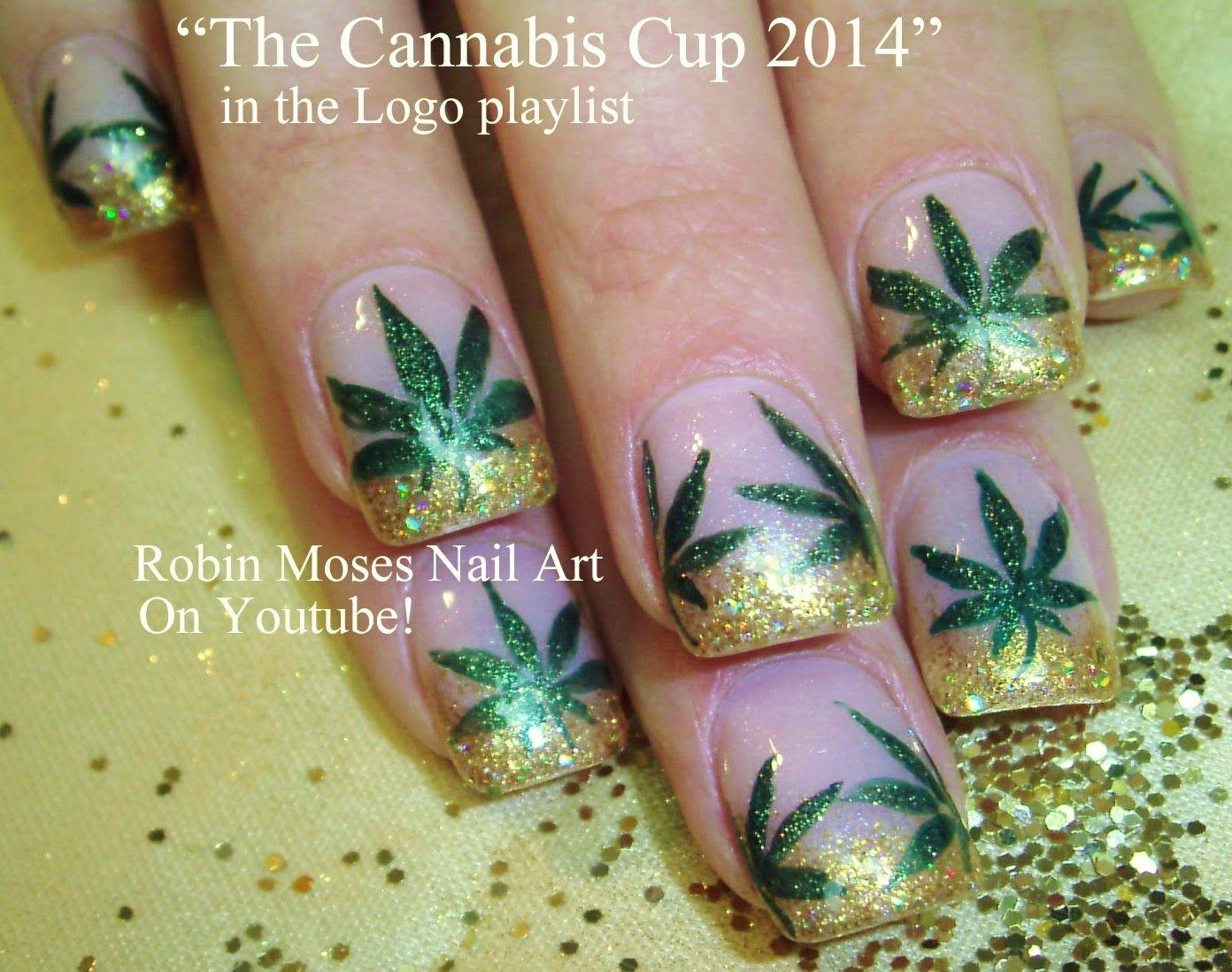 420 Nail Art 2014 Cannabis Cup Denver Stoner Nail Ideas