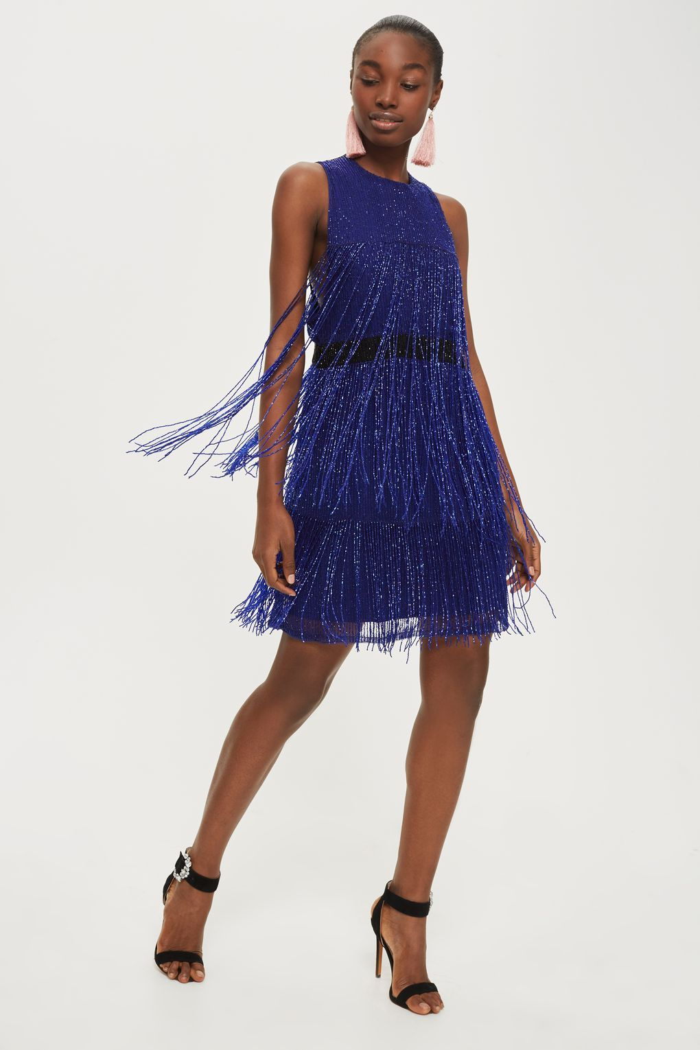 Fringe Beaded Skater Dress Dressy Outfits Jumpsuit For Wedding Guest Wedding Guest Outfit Inspiration [ 1530 x 1020 Pixel ]