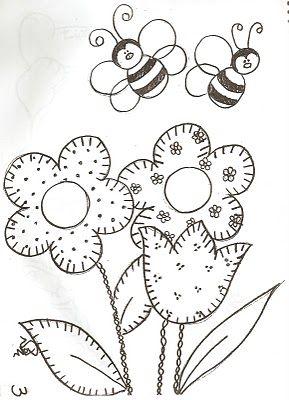 Cicek Ve Ari Boyama Boyama Sayfalari Nakis Desenleri