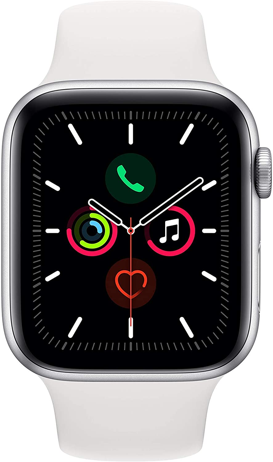 Amazon Com Apple Watch Series 5 Gps 44mm Space Gray Aluminum Case With Black Sport Band Renewed Apple Watch Series Apple Watch Buy Apple Watch