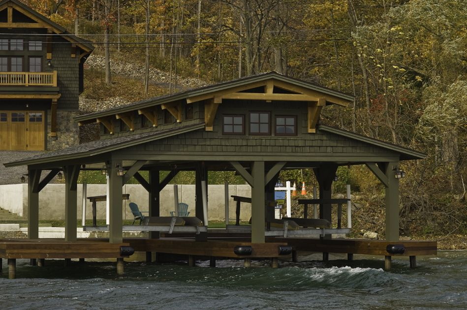 japanese timber frame plans residential boat dock pavilion on canandaigua lake - Boat Dock Design Ideas