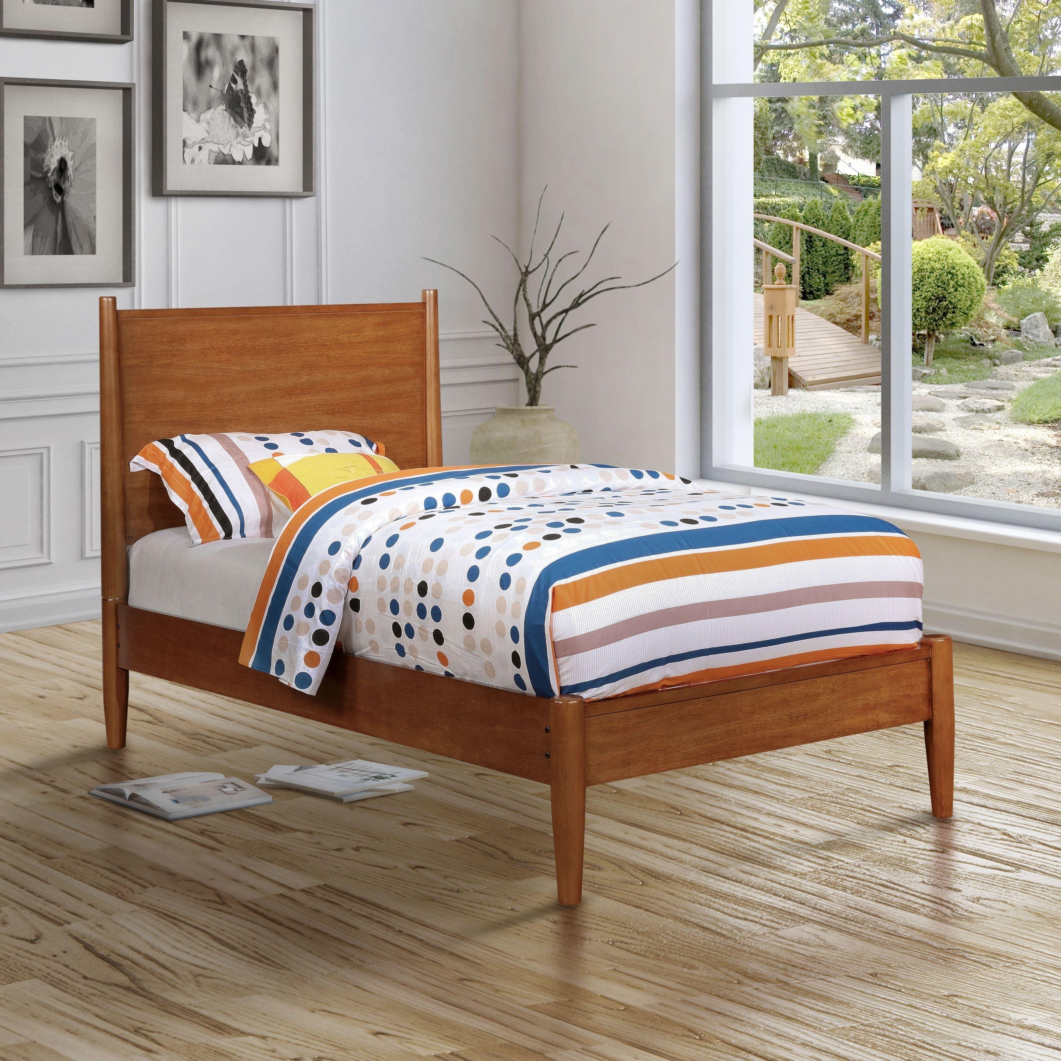 Best Corrine Ii Mid Century Modern Platform Bed By Foa Wooden 400 x 300