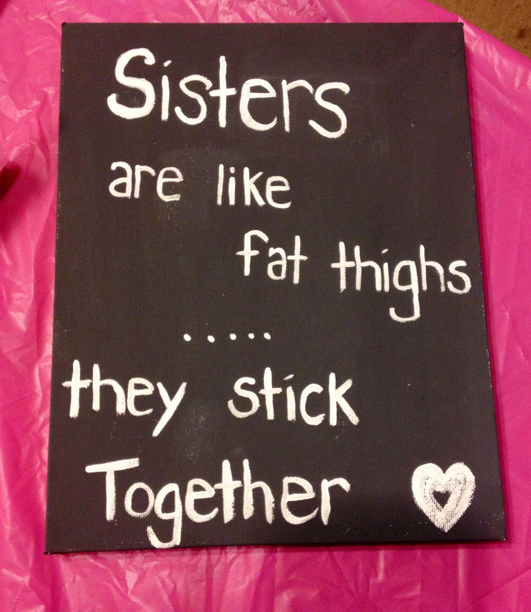For my sister Dollar store canvas makes gift giving