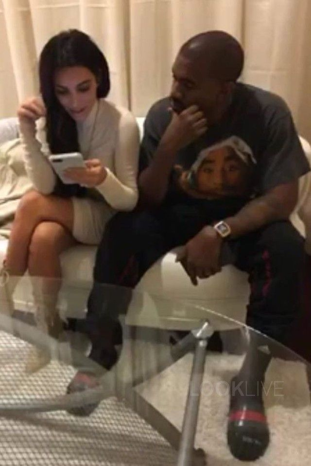 fe6911a540b Kanye West - Relaxes Backstage with wife Kim Kardashian on