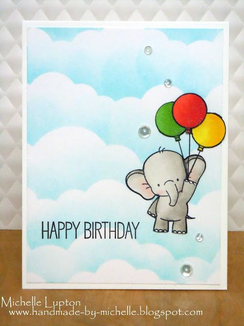 Elephant Aloft Unicorn Birthday Cards Gatefold Cards Homemade Birthday Cards