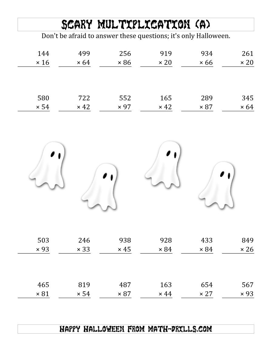 The Scary Multiplication 3 Digit By 2 Digit A Math Worksheet From The Hallowe Halloween Math Worksheets Halloween Multiplication Worksheets Math Worksheets [ 1165 x 900 Pixel ]