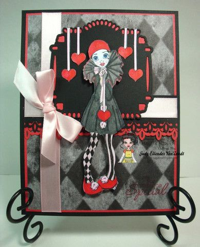 Cute As A Button Designs IMG00430 Pierrot Clown Digital Digi Stamp