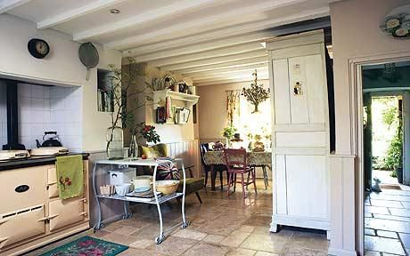 English Country Cottage Interiors | Interiors: The Kitchen With Its New Aga  And Stone Floor