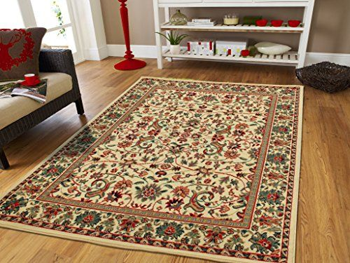 Large Area Rug Oriental Rug 8x11 Traditional Rugs Cream Persian