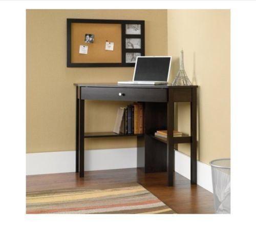 Wooden Computer Desk Corner Shelves Drawer Home Furniture Office Big Work  Table #WoodenComputerDesk #Modern
