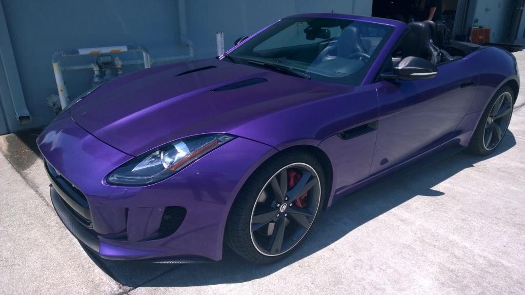 My Jaguar Ftype Wrapped In Purple So Gorgeous Cars Trucks Purple Jaguar