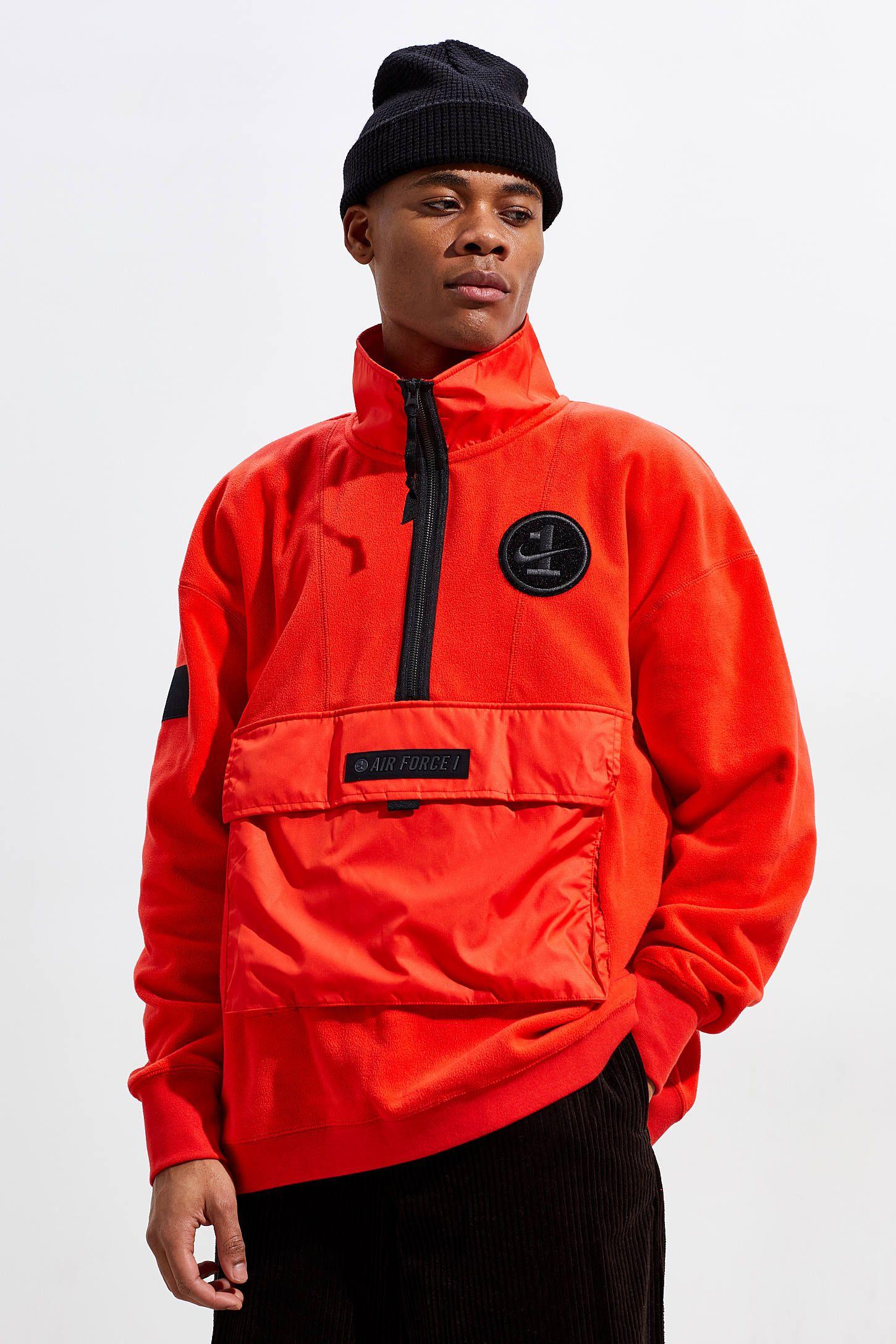 Nike Air Force 1 Half Zip Fleece Pullover Sweatshirt Fleece Pullover Pullover Sweatshirt Half Zip Pullover [ 2175 x 1450 Pixel ]