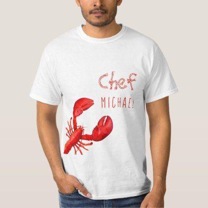 Red lobster on white custom name TShirt