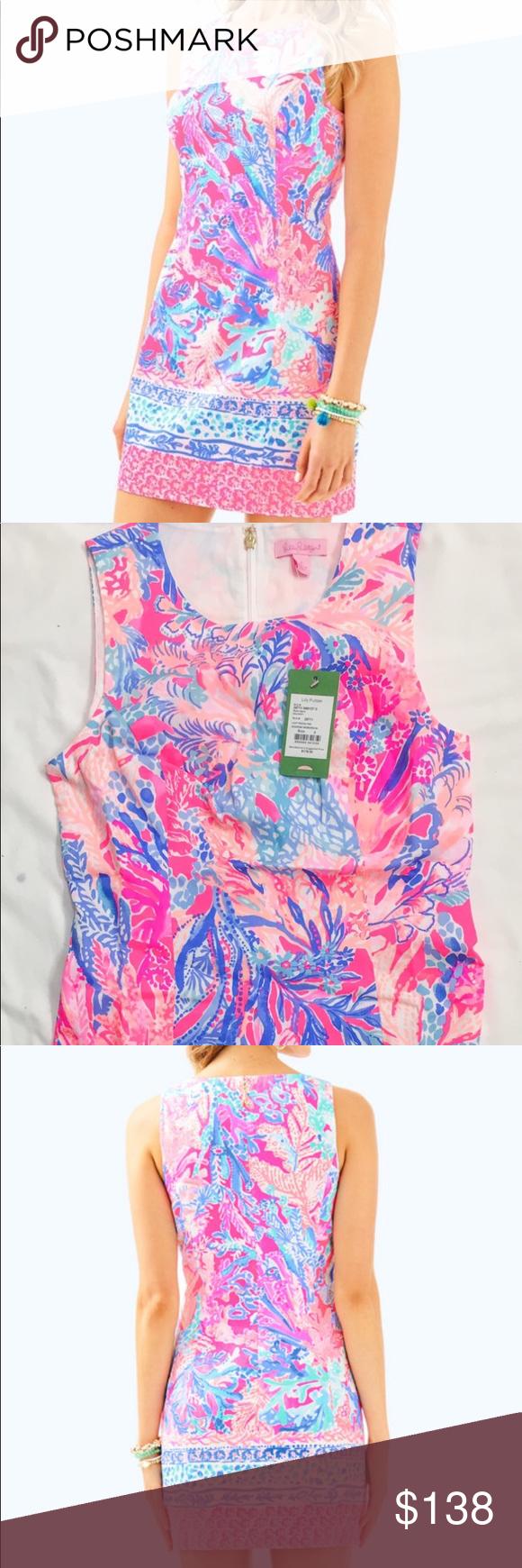 e174182434c5e8 LILLY PULITZER Mila Shift Dress 4 Pink Aquadesiac NEW LILLY PULITZER Mila  Shift Dress 4 Light