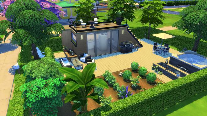Schrebergarten Deluxe | Sims haus, Sims 4 häuser und Architektur