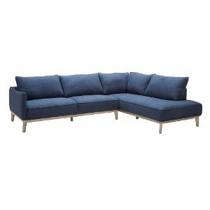 Blue Modern 2-Piece Sectional - Flanigan | Utah condo | 2 piece ...