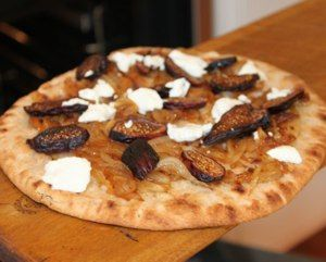 Flatbread w/ Caramelized Onions, Goat Cheese, and Figs