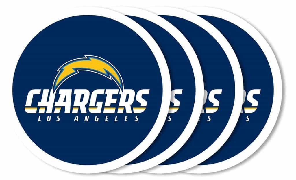 Los Angeles Chargers Coaster Set 4 Pack Los Angeles Chargers Los Angeles Chargers