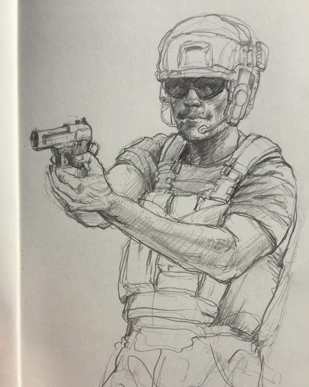 Soldier guns pistol sketch sketching sketchbook doodle drawing pencil pencilsketch pencildrawing art