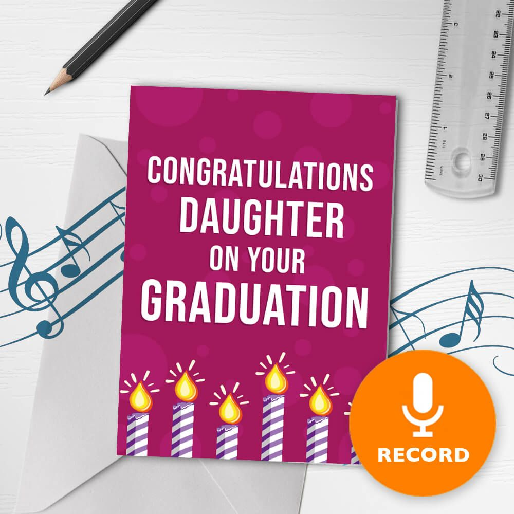 Congratulations Daughter Musical Greeting Card Musical