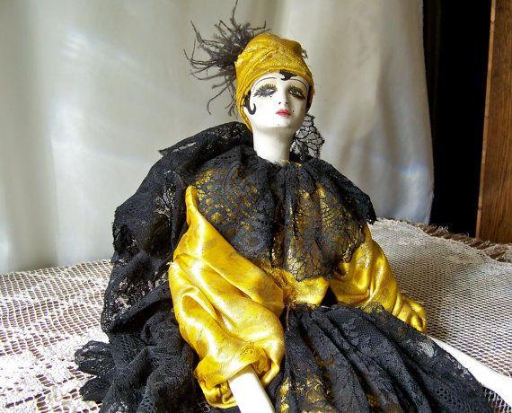 Antique porcelaine Boudoir poupée Art déco des par CynthiasAttic