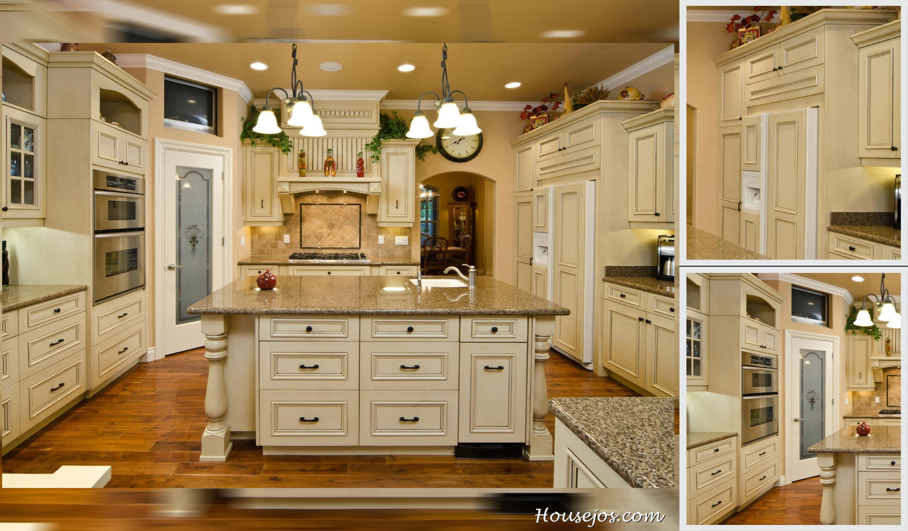 French country kitchen cabinets with custom looks