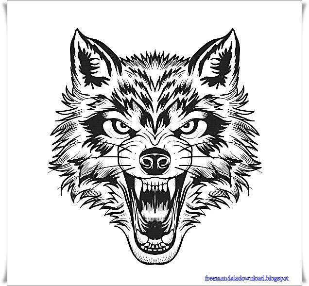 wolf tattoo malvorlage  coloring and malvorlagan