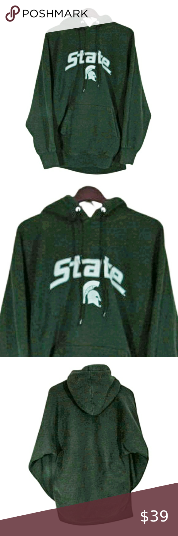 Michigan State Spartans Football Hoodie Size M Green Hoodie Men Michigan State Spartans Football Hoodies [ 1740 x 580 Pixel ]