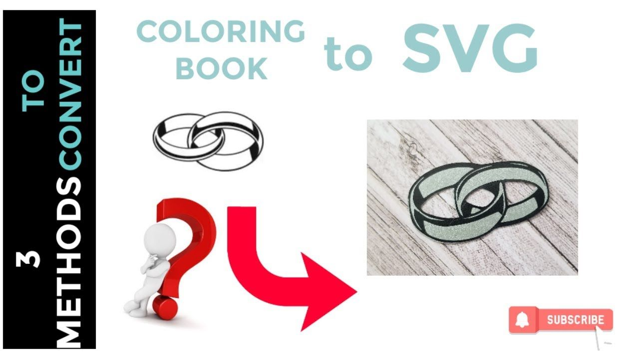 How to convert a coloring book image into an SVG using