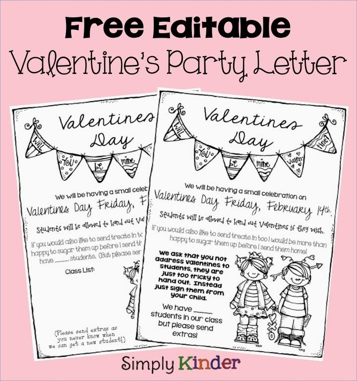 Valentine S Day Party Letter Valentine School Party