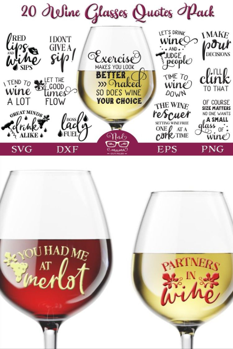Download Wine Glasses Quotes Pack 416394 Signs Design Bundles In 2021 Sayings For Wine Glasses Glasses Quotes Wine Down