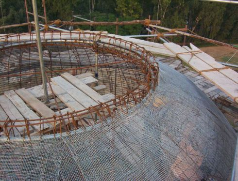 Ferrocement dome pinterest for Foam concrete house construction