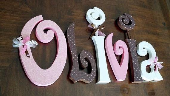 Resultado de imagen para decoracion de letras de madera letras decoradas letras para nombres Letras de madera para decorar