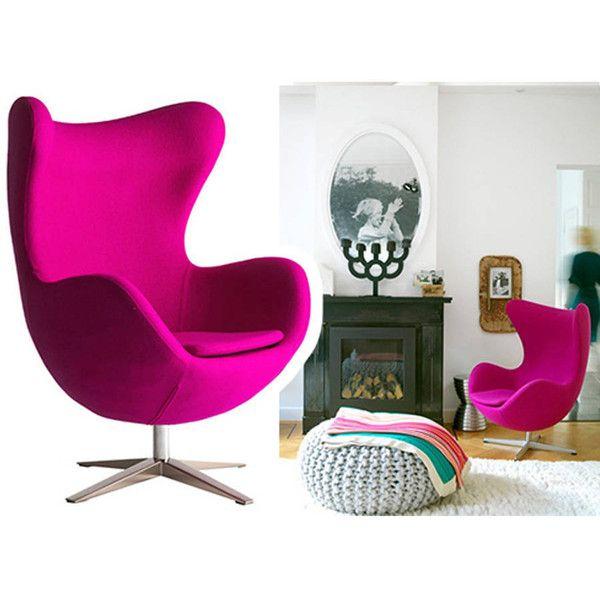Ciel Armchair, Cocoon Egg Style, Modern Arm Chair ($1,750) ❤ liked ...