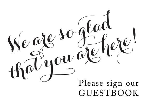 custom guest book sign please sign our guest book 50th