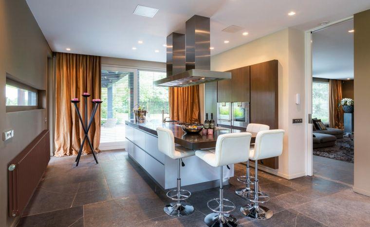 Cocinas con barra americana 35 diseños de lujo   Barra americana ...