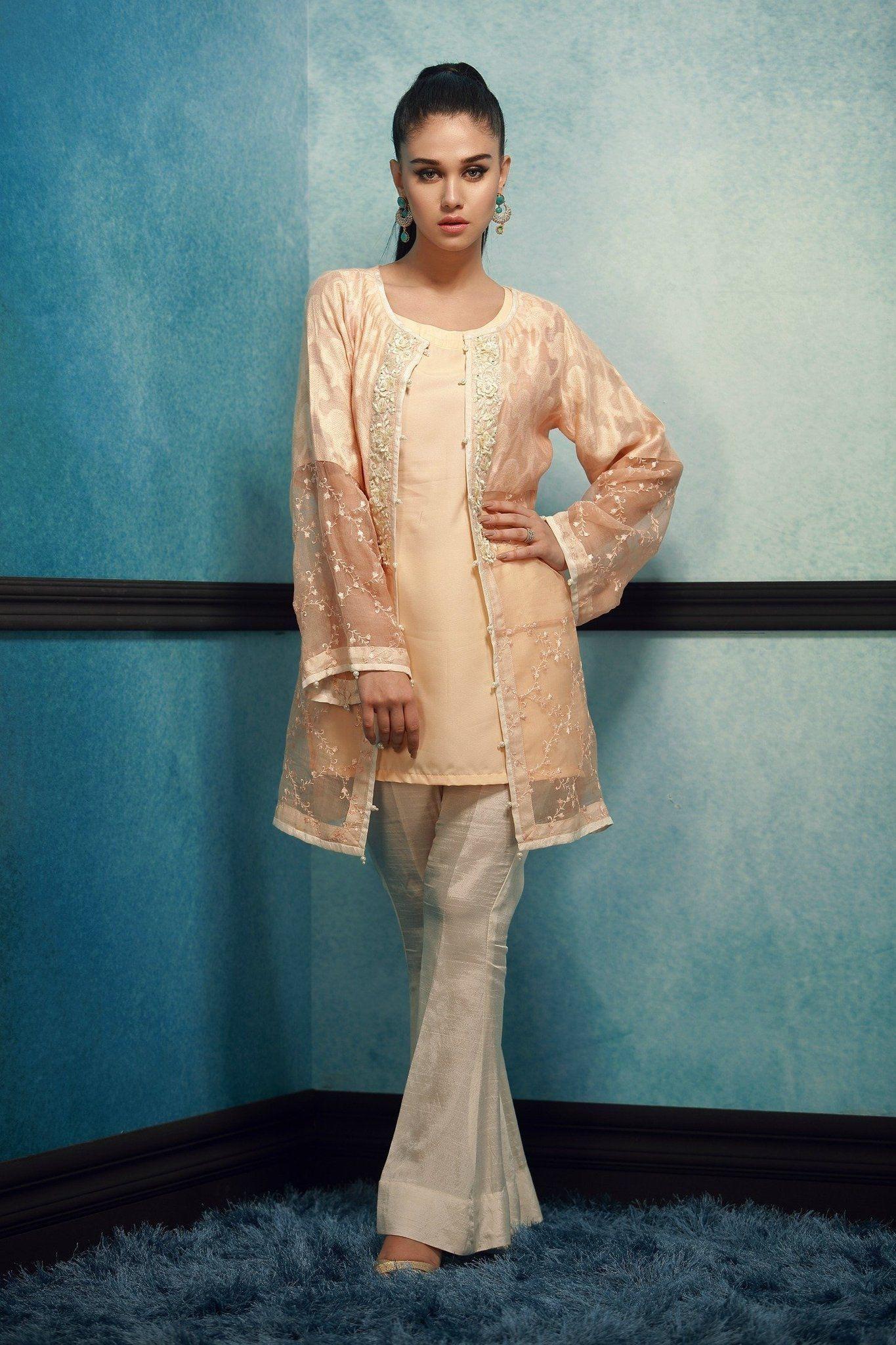 Elegant 3 Piece Khadi Net Designer Pakistani Ready to Wear Pret ...