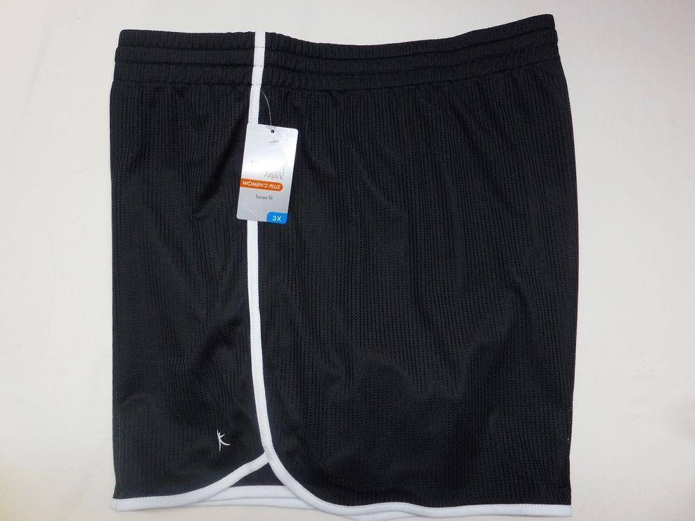 Danskin Women's Plus Loose Fit Workout Gym Shorts 3X (22W-24W) Black NEW #DanskinNow #Shorts