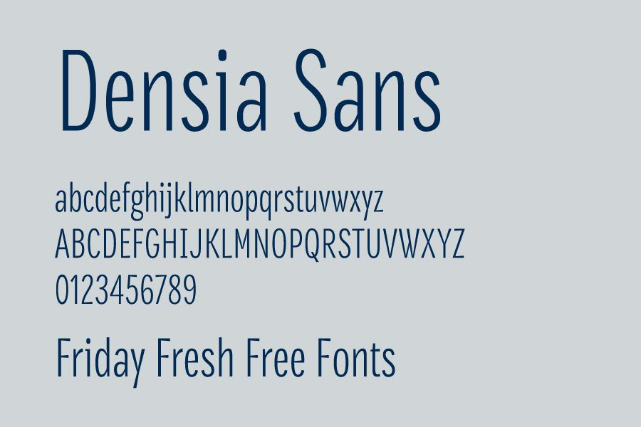 Friday Fresh Free Fonts Densia Sans Postamt The Cinthia Edito